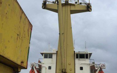Замена каната грузовой лебёдки судового крана т/х «Богатырь»